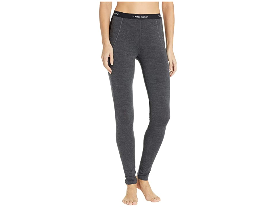 Icebreaker 260 Zone Merino Base Layer Leggings (Jet Heather/Black/Snow) Women's Casual Pants