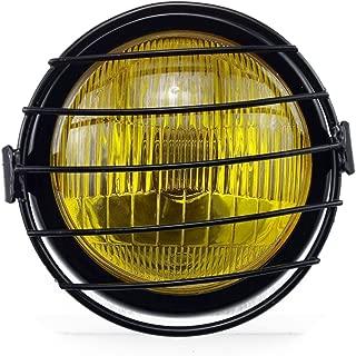 yellow motorcycle headlight