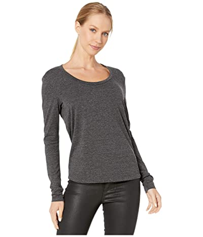 AG Adriano Goldschmied Cambria Long Sleeve Tee (Heather Charcoal) Women