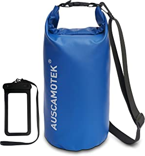 Auscamotek Waterproof Dry Bag Roll Top Dry Compression Sack for Boating Kayaking Beach Rafting Hiking Camping Fishing Hunt...
