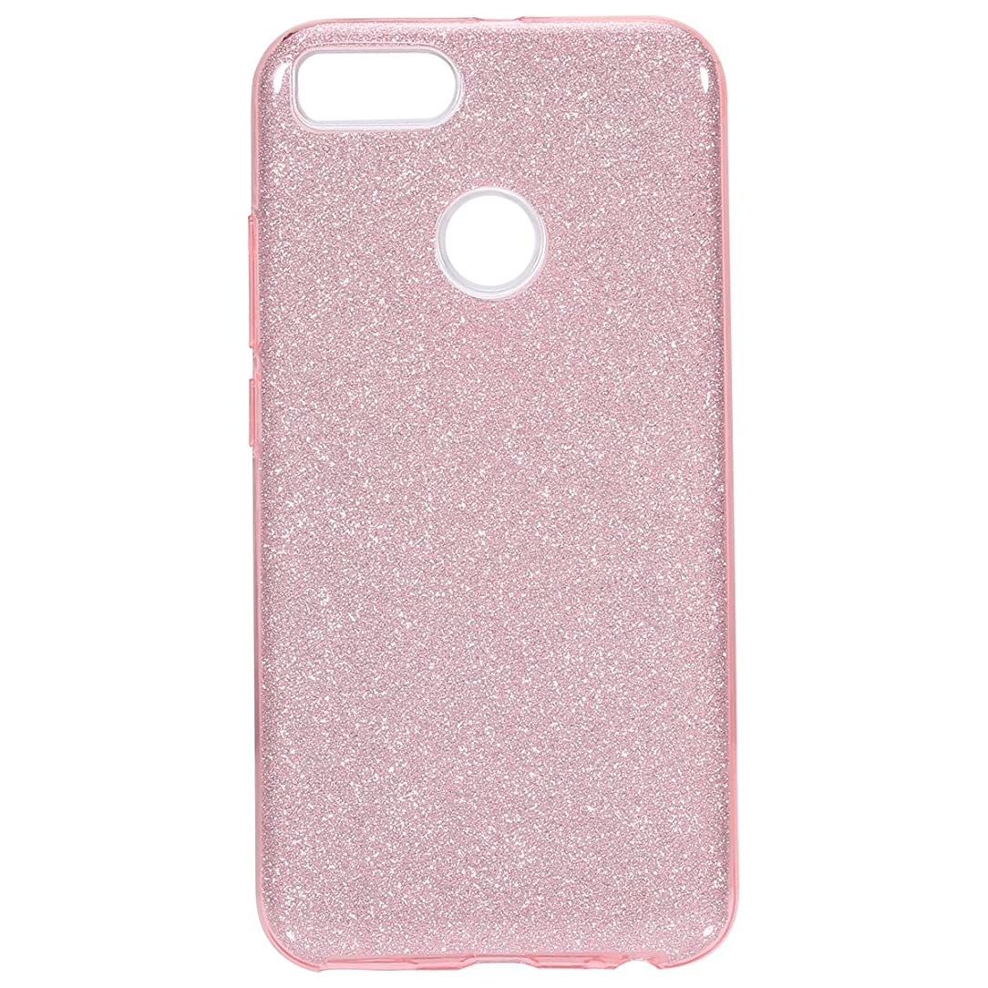 IKASEFU Back Shockproof Luxury Sleek Glitter Sparkly Bling Cute Shiny Soft TPU silicone Thin Bumper Protective Cover Compatible with Xiaomi Mi A1/5X,Pink