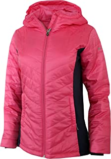 Columbia Youth Girls 6-18 Light Mount Joy Hooded Hybrid Jacket Pink Navy