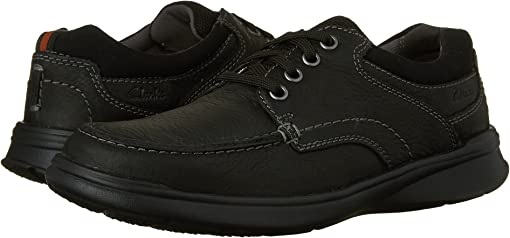 Black Oily Leather