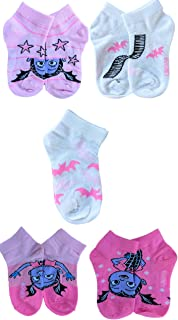 Girls' Vampirina 5 Pack Shorty, Assorted Pink, Fits Sock Size 5-6.5 Fits Shoe Size 4-7.5