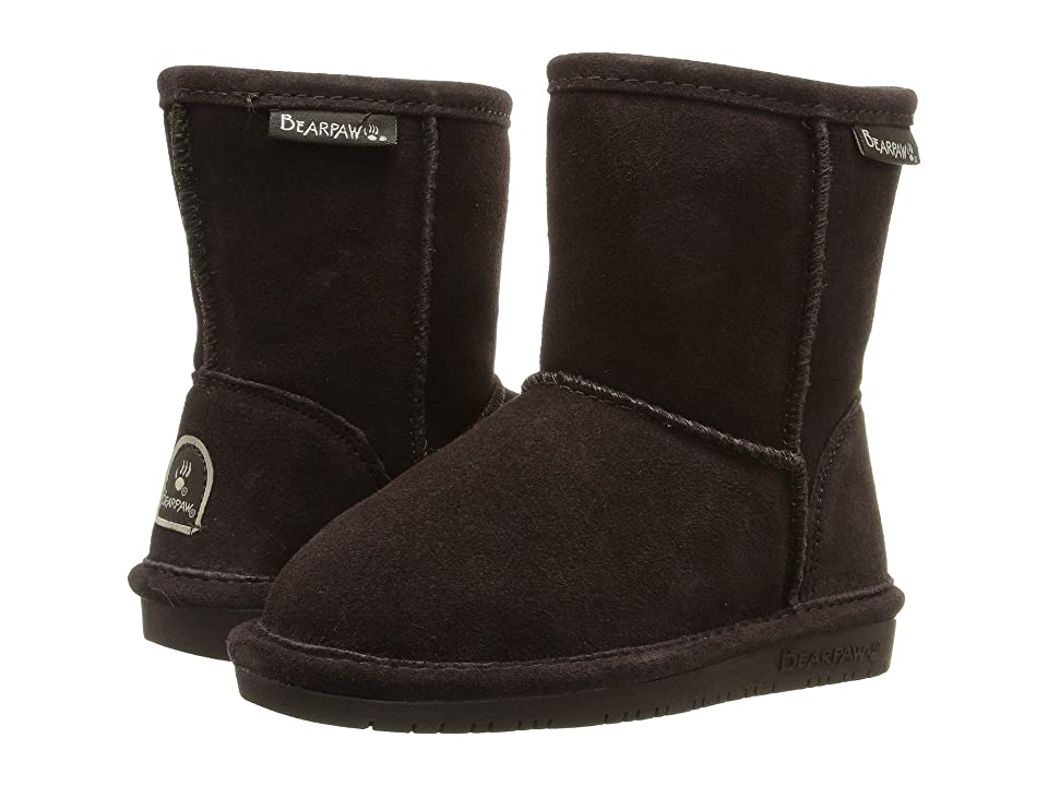 Bearpaw Kids Emma Zipper (Toddler/Little Kid) (Chococlate) Girls Shoes