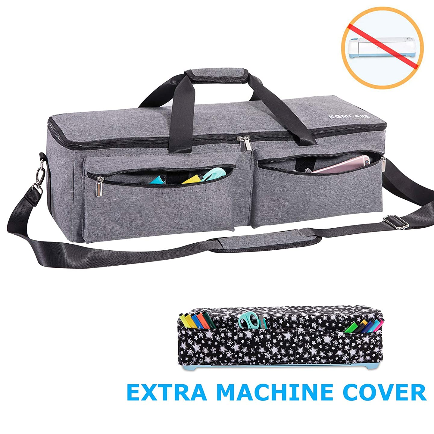 KGMcare Carrying Bag Compatible with Cricut Explore Air and Maker, Waterproof Tote Bag Compatible with Cricut Explore Air and Supplies- (Gray)