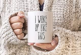 HAPPY MUG, RAE DUNN Inspired Mugs, Farmhouse Style Mug, Sleepy Coffee Mug, I Woke Up Like This Tea Mug, Can't Even Cup, But First Coffee Mug, Hot Mess