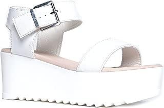 Best white platform chunky sandals Reviews