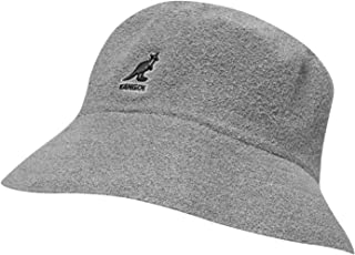 Kangol Mens Boucle Bucket Hat Grey S-M