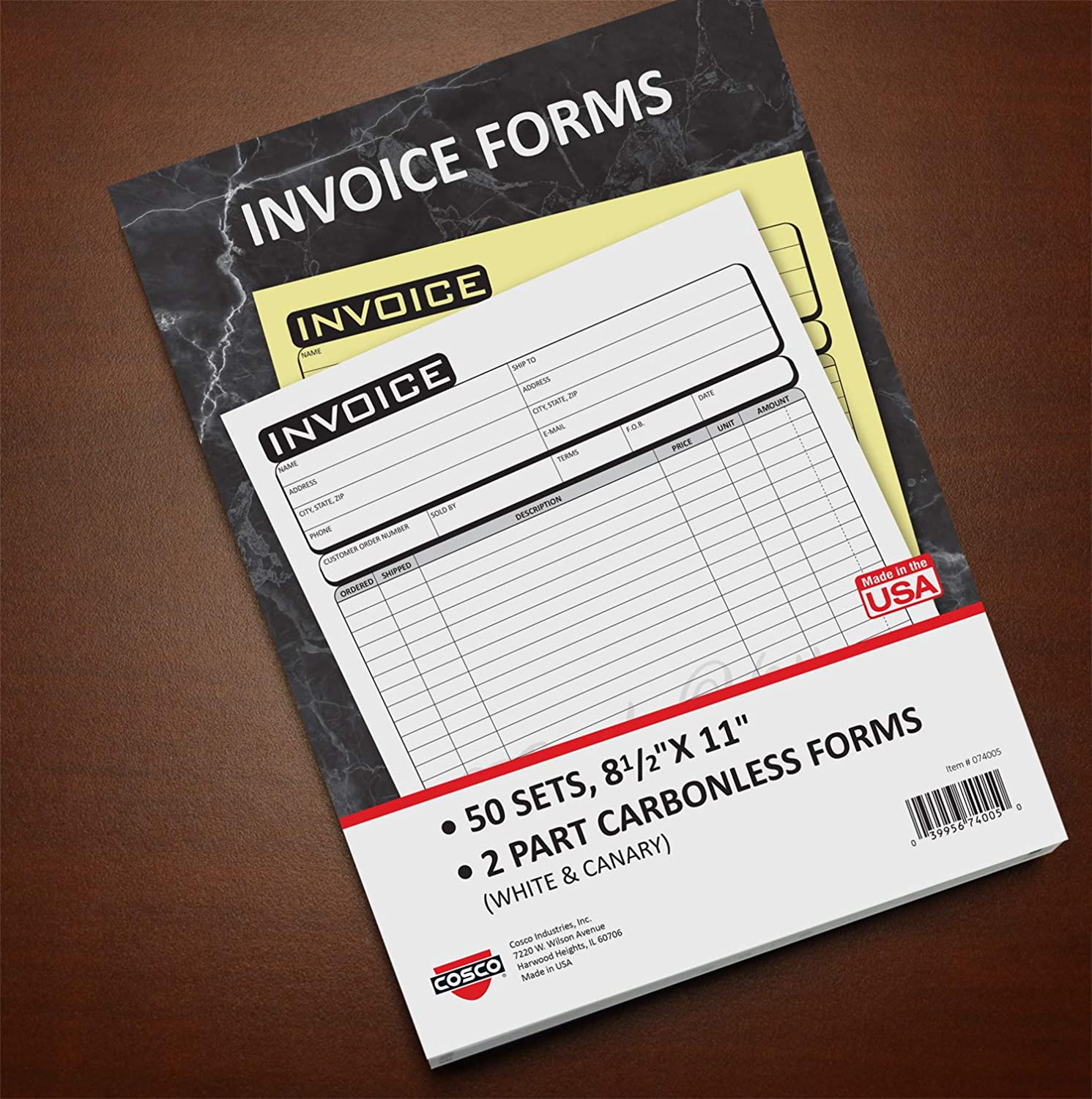 Cosco Invoice Form Book with Slip Max 76% OFF Business 2-Part 8 11 2 Award 1 x