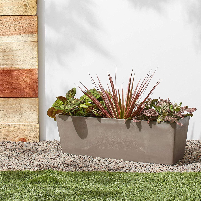 17.5 x 7 x 6 Taupe Arcadia Garden Products PSW U45TP Simplicity Window Box