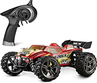 BBM HOBBY Mini RC Cars HBX Wildrider 1/24 Scale Remote-Controlled Car 4x4 Off-Road Trucks 28KM/H High Speed, 4WD Waterproof Electric Vehicle RTR Hobby Grade for Kids and Adults, Red