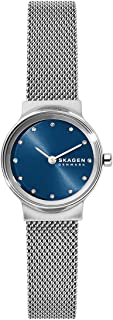 Skagen Women's Freja Quartz Analog Stainless Steel and Stainless Steel Watch, Color: Silver/Blue Mesh (Model: SKW2920)
