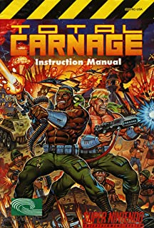 Total Carnage SNES Instruction Booklet (Super Nintendo Manual Only) (Super Nintendo Manual)