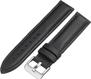 Hadley-Roma MS2044RA 200 20mm Leather Calfskin Black Watch Strap