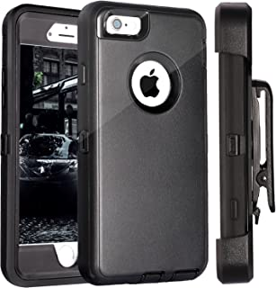 FOGEEK iPhone 6S Plus Case, Protective Case Heavy Duty Cover Compatible for iPhone 6 Plus & iPhone 6S Plus 5.5 inch 360 Degree Rotary Belt Clip & Kickstand (Black)