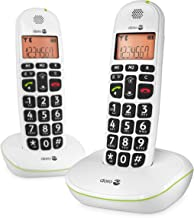 Doro PhoneEasy 100W DECT Cordless Phone with Amplified Sound and Big Buttons (Twin Set/White) [UK and Irish Version]