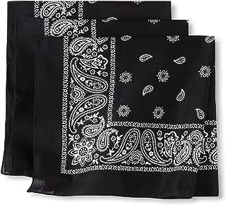 Levi's Men's 100% Cotton Multi-Purpose Bandana Gift Sets – Headband, Face Mask,Wrap, black, One Size