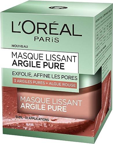L'Oréal Paris – Masque Lissant Pour Le Visage – Argile Pure – 50 ml