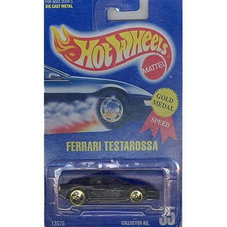 Amazon Com Hot Wheels 1991 35 Ferrari Testarossa All Blue Card 1 64 Scale Toys Games