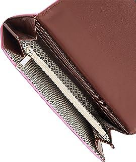 محفظة مرصعة بسحاب مستدير من النيون للنساء - مقاس واحد