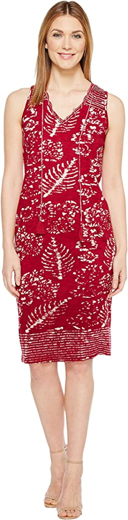 Lucky Brand - Red Batik Print Dress