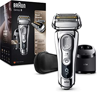 Braun Series 9 9395cc Afeitadora Eléctrica Hombre Última Generación: Afeitadora Barba con Estación Limpieza y Carga Clean&...