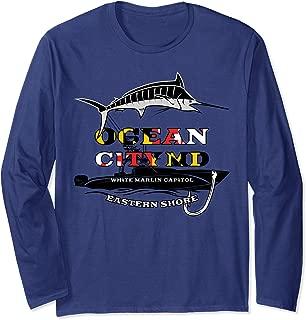 Ocean City Maryland Flag White Marlin Capital Shirt