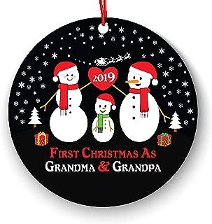 Grandparents Snowman - First Christmas As Grandma & Grandpa - Grandma & Grandpa Ornament 2019 - First Christmas as Grandmom & Grandpop New Grandparents