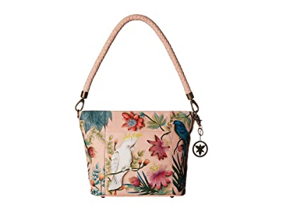 Anuschka Handbags Medium Hobo 608 (Cockatoo Sunrise) Handbags