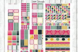 Glam It, planner stickers kit. 8 full size sheet of stickers. Sized for Erin Condren, but will work in most planners. Kiss cut on matte removable sticker sheets.