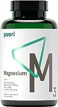 Puori - M3 High Quality Magnesium, Vitamin B6 11mg, Magnesium 300mg, Zinc, 15mg, Malic Acid 300mg, 120 Vegan Capsules