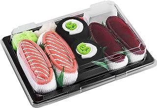 Rainbow Socks, Niñas Niños Calcetines Sushi Salmón Atún Maki de Pepino - 3 Pares