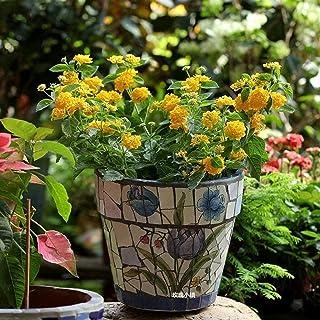 Kotee Handmålade stora blomkruka medelhavet växtkruka spansk stil innergård handmålade keramiska mosaik stora blomma potte...