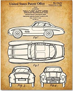 1955 Mercedes-Benz 300SL Gullwing Coupe - 11x14 Unframed Patent Print - Makes a Great Gift Under $15 for Car Lovers