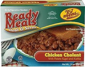 Kosher Meals Ready to Eat, Kosher Chicken Cholent with Potato Kugel & Kishka (Microwavable, Shelf Stable) – Dairy Free - Glatt Kosher (12 ounce - Pack of 1)