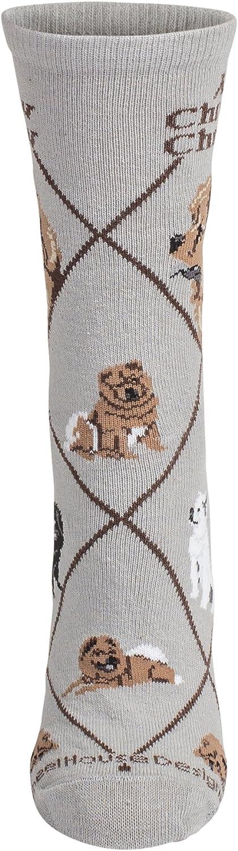 Chow Animal Socks On Gray 9-11