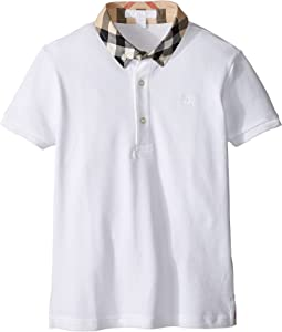 Burberry Kids - William Check Collared Short Sleeve Shirt (Little Kids/Big Kids)