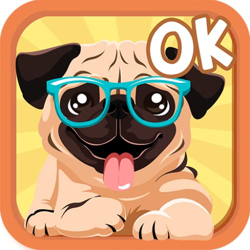 Pug Dog Sticker Emojis - Gif Animated Keyboard App