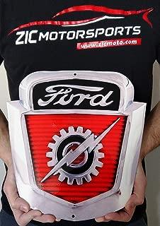ZIC Motorsports 1954-1956 Ford F-100 Truck Emblem Badge Heavy Duty Metal Garage Wall Sign - 12