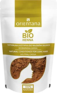Orientana BIO HENNA für langes Haar, transparente Spülung   100% aus Kräutern, 100% natürliche Haarspülung für langes Haar ohne Haarfarbe, ernährt und kräftigt die Haare, 100 g