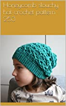 Honeycomb slouchy hat crochet pattern 253