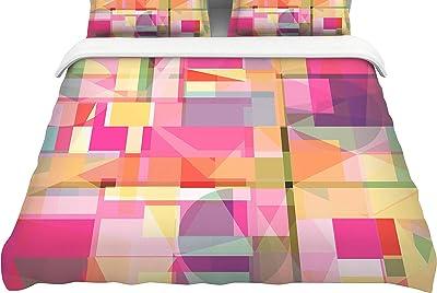 68 X 88 KESS InHouse Ivan Joh Sandy Road Gray Pink Twin Comforter
