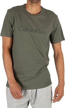 Calvin Klein de los Hombres Camiseta gráfica, Verde