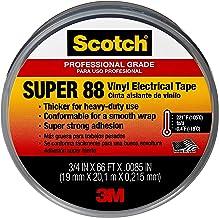 3M Scotch Super 88 elektrische isolatietape, vinyl, zwart, 19 mm x 6 m