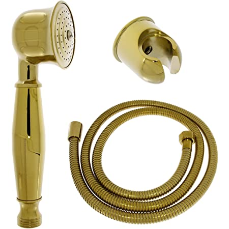 G1//2Soffione Doccia Portatile Oro Spruzzatore per Bagno Doccetta Accessori per la casa Soffione Doccia Facile da installare Soffione Doccia