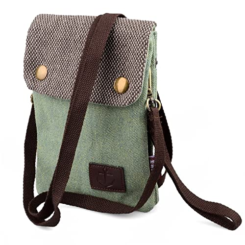 Hengying Canvas Mini Cross Body Phone Bag Universal Mobile Phone Pouch Purse  with Wrist Strap for e65dbcbfad6b8