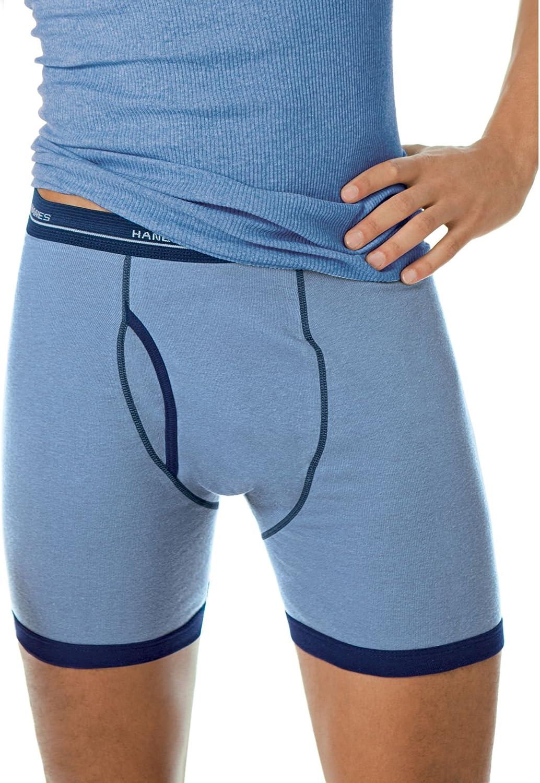Hanes Men's Ringer Boxer Brief Fashion Assortment
