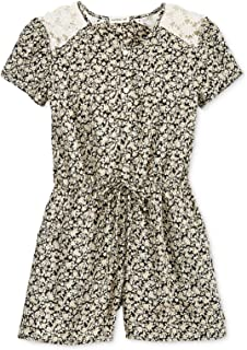 Girls Lace Floral Romper Jumpsuit Size XL