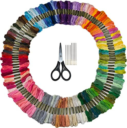 Bulk Rainbow Pack Embroidery Floss - 125 Skeins - Variegated Colors- Embroidery Kit - Friendship Bracelet Thread - Cr...